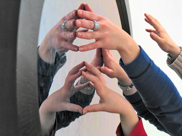 Les Errances de l'éŽcho, miroir interactif, 2005